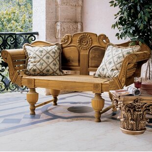 Design Toscano Halifax Console Wood Garden Bench