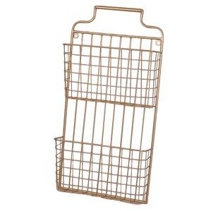 Metal Wall File galvanized metal wall basket   wayfair