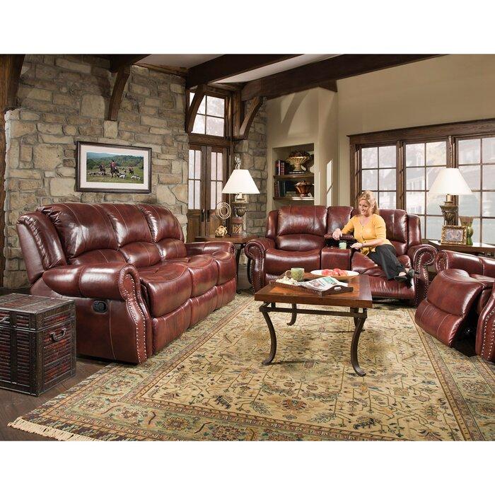 Additri Reclining 3 Piece Leather Living Room Set