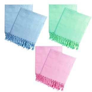 Elysian Peshtemal Lightweight Highly Absorbent 100% Cotton Bath Towel (Set of 6)