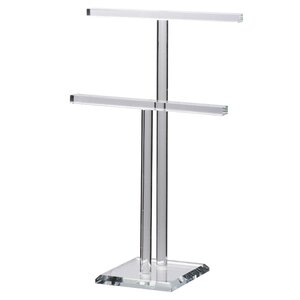 2-Tier Glass Jewelry Stand