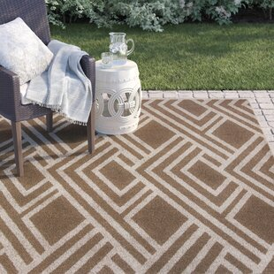 Andres Geometric Beige Indoor/Outdoor Area Rug