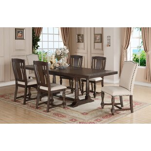 Laurel Foundry Modern Farmhouse Fortunat 7 Piece Extendable Dining Set