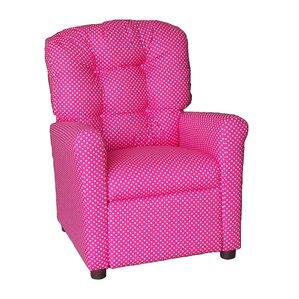 Pink Dottie Kids Recliner by Brazil Furniture