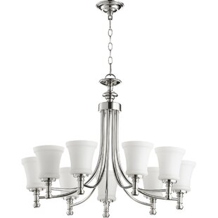 Quorum Rossington 9-Light Shaded Chandelier
