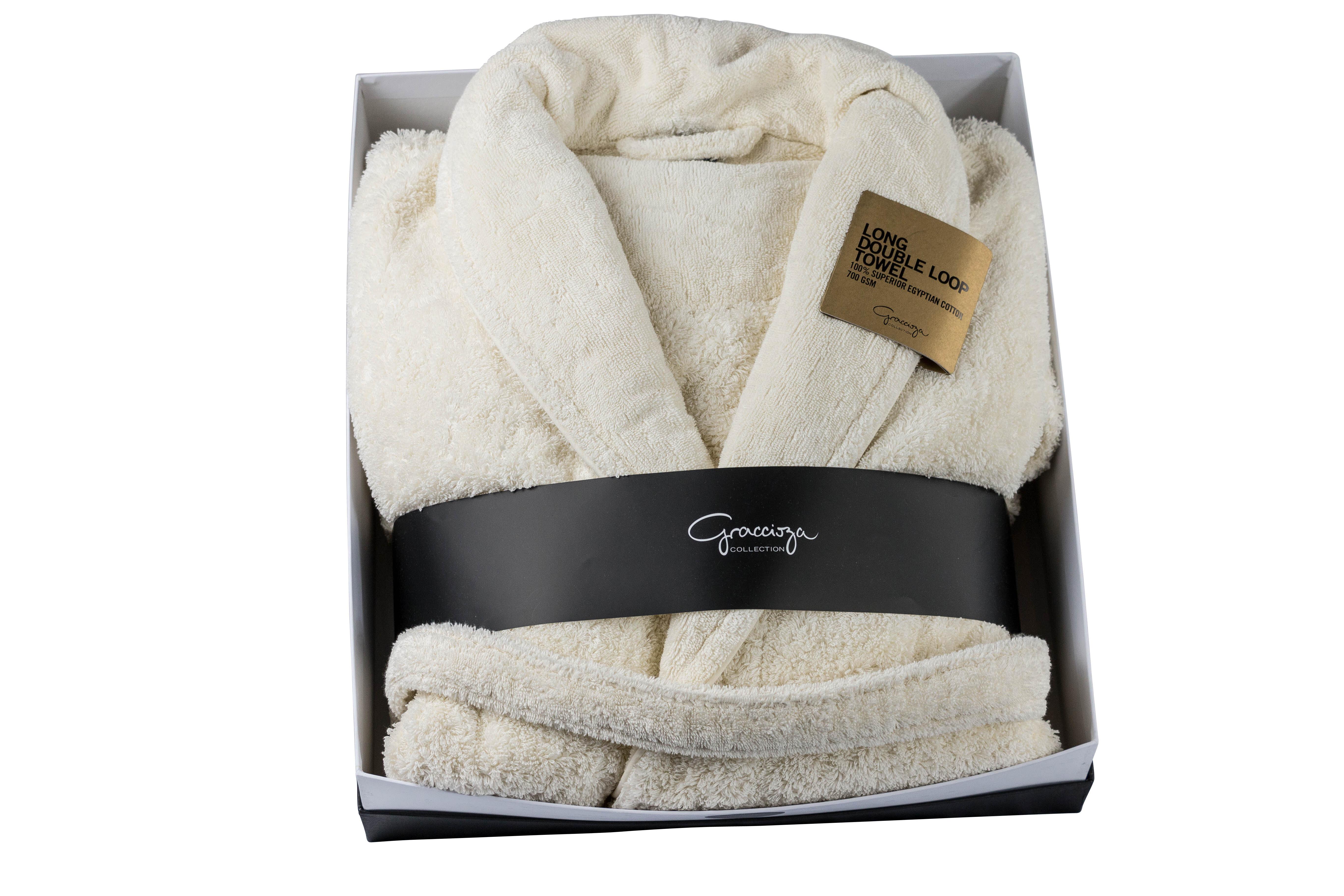 The St Pierre Home Fashion Collection Graccioza Double Loop 100 Cotton Terry Cloth Bathrobe Wayfair Ca
