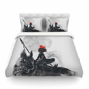 Princess Monokiki Fantasy Illustration by Frederic Levy-Hadida Featherweight Duvet Cover ByEast Urban Home