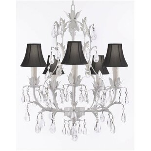 Kappel 5-Light Shaded Chandelier by Ophelia & Co.