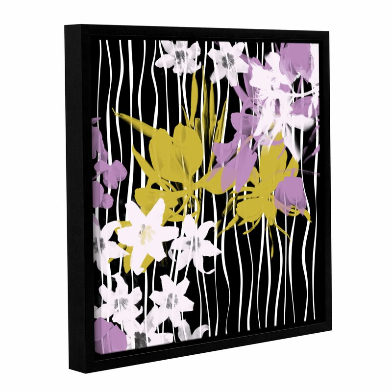 Latitude Run Blossoming Garden Vi Framed Painting Print On Wrapped Canvas Wayfair