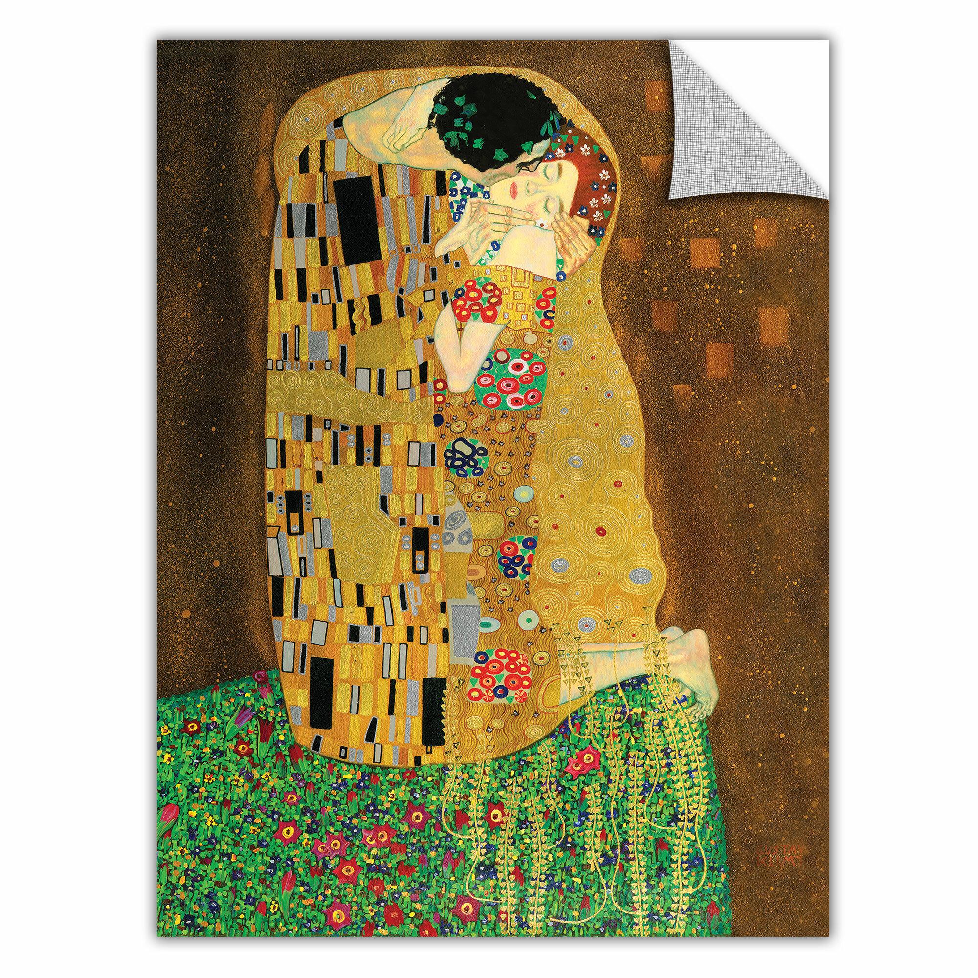 ArtWall ArtApeelz \'The Kiss\' by Gustav Klimt Painting Print ...