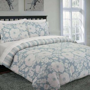 Rabinowitz Floral Cotton 3 Piece Reversible Duvet Cover Set