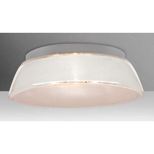 Besa Lighting Pica 3-Light Outdoor Flush Mount