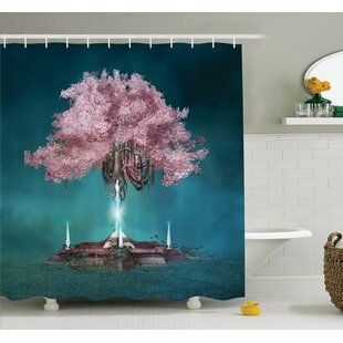 Tree Magical Blossom Art Shower Curtain Set