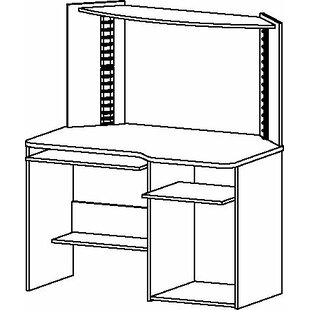 Student Computer Desk with Hutch