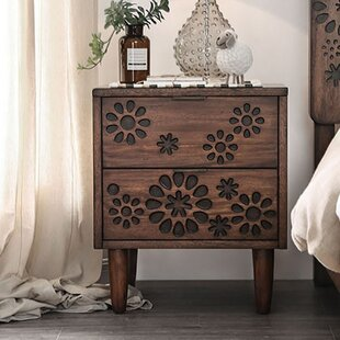 Bloodworth 2 Drawer Nightstand by Bungalow Rose