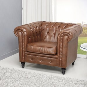 Arline Button Tufted Chesterfield Chair by L..
