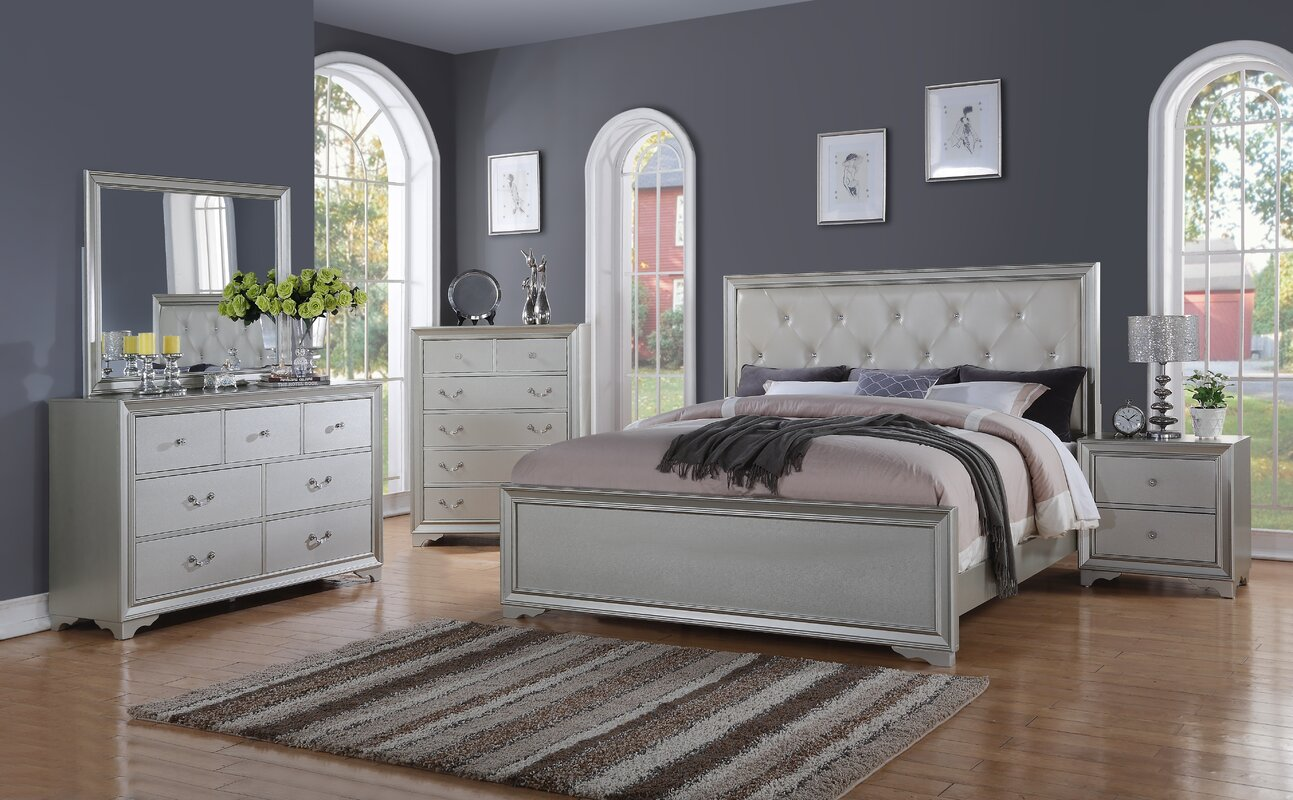 Rosdorf Park Bottlesford King Panel 4 Piece Bedroom Set & Reviews ...