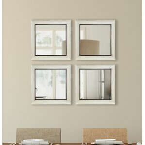 square wall mirror set of 4