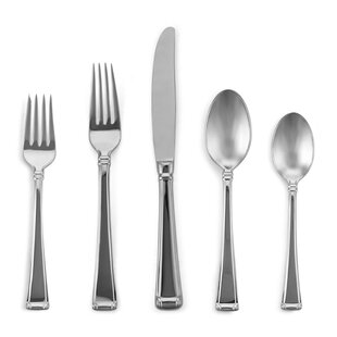 Column 5 Piece Flatware Set, Service For 1 by Gorham Wonderful