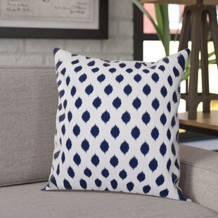 Alarice Cop-Ikat Geometric Print Throw Pillow
