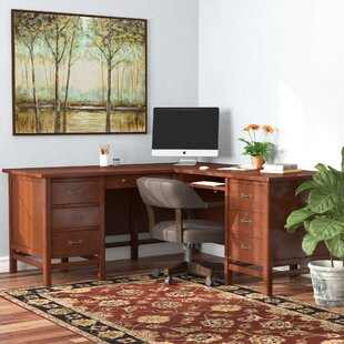 Boonville L-Shape Computer Desk by DarHome Co Best Choices