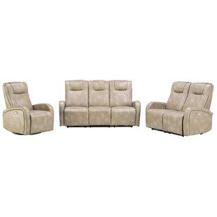Winston Porter Hiller Reclining 3 Piece Living Room Set (Set of 3)