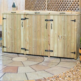 Hayes Wooden Triple Bin Store By Sol 72 Outdoor