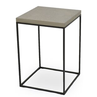 Sarreid Ltd End Table with Concrete Board Top