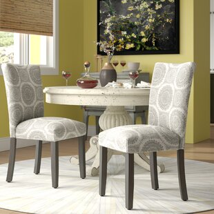 Longwood Upholstered Dining Chair (Set of 2) (Set of 2) by Charlton Home
