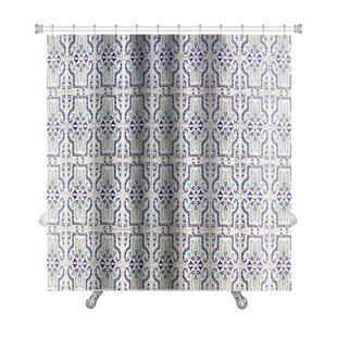 Alpha Medieval Tiles with Traditional Islamic Pattern Decor Premium Single Shower Curtain