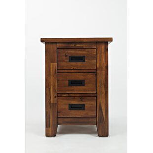 Millwood Pines Salvador Wooden Cabinet Chairside End Table