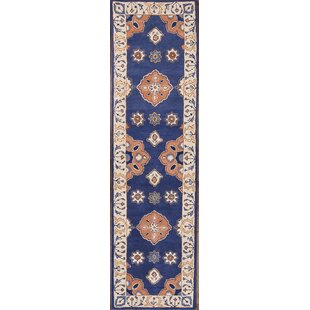 Purchase Chaumont Agra Kashan Oriental Hand-Tufted Wool Red/Black/Blue Area Rug ByBloomsbury Market