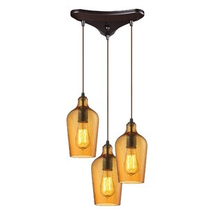 Esteban 3-Light Cascade Pendant by Williston Forge