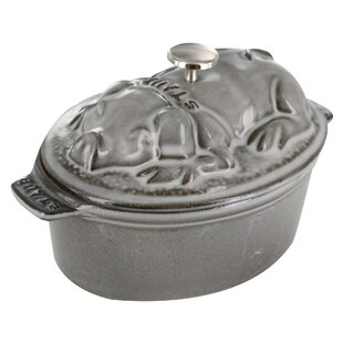 Staub Cast Iron 1 Qt. Pig Oval Dutch Oven