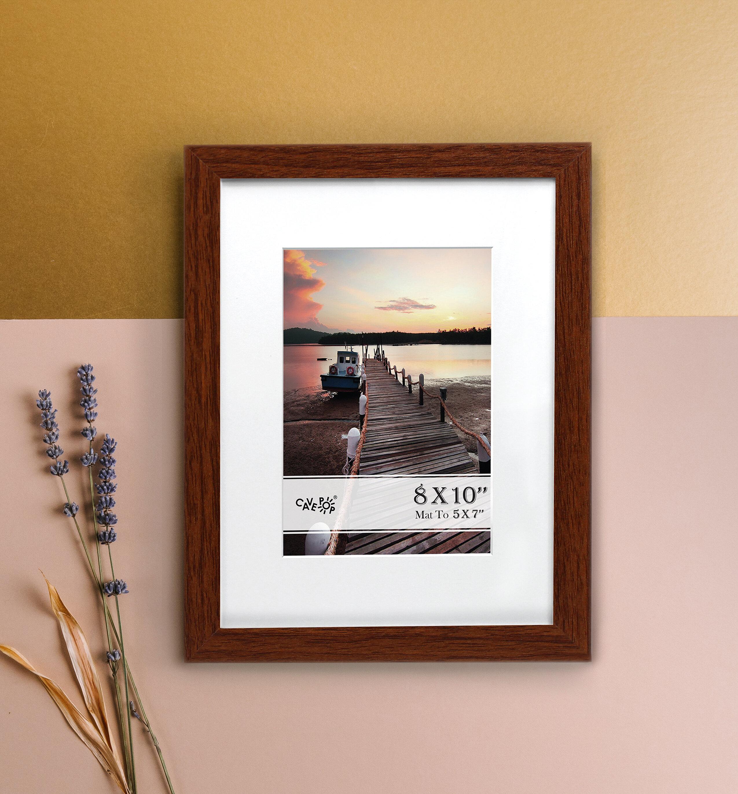 "Freestanding Frame Elegant Fits 5/""x7/"" Photo Or Art Vertical Or Horizontal Black"