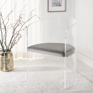 Slaugh Acrylic Accent Upholstered Side Chair Orren Ellis