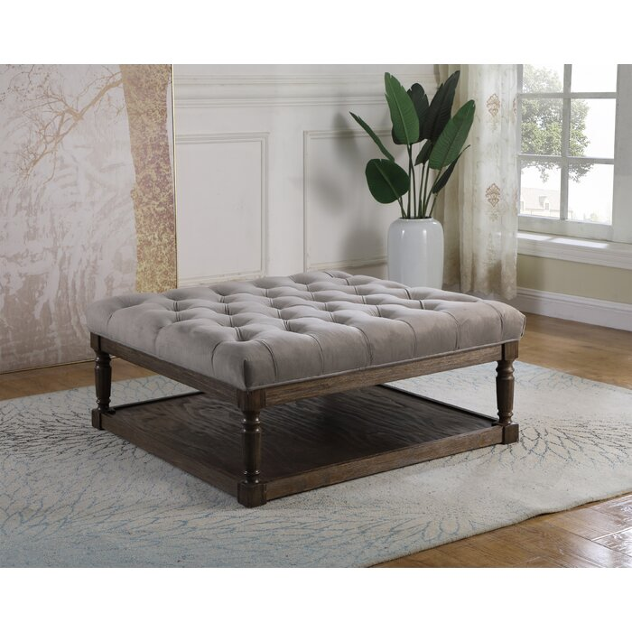 Fine Kirkby Tufted Ottoman Pabps2019 Chair Design Images Pabps2019Com
