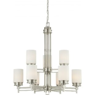Orren Ellis Ridley 9-Light Shaded Chandelier
