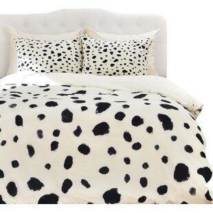 Latitude Run Currans Dalmatian Duvet Cover Set