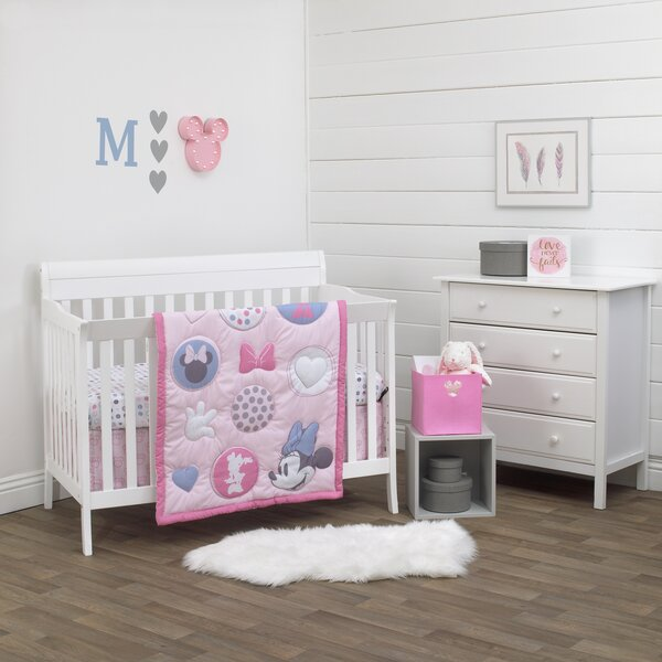 Disney Minnie Mouse Bedding Set to fit Cot Bed Cotbed - 140 x 70cm