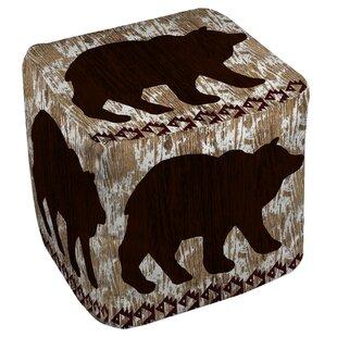 Wilderness Bear Pouf by Ma..