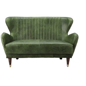 Kait Leather Loveseat Sofa by 17 Stories