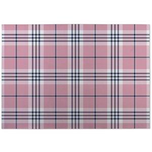 Montezuma Plaid Pink Doormat
