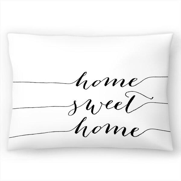 East Urban Home Home Sweet Home Lumbar Pillow Wayfair