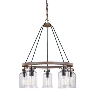 Heard 5-Light Wagon Wheel Chandelier by Gracie Oaks