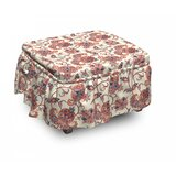 Paisley Boho Ottoman Slipcover (Set of 2) by East Urban Home