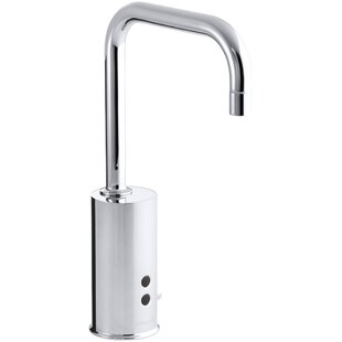 Kohler Gooseneck Single-Hole Touchless Electronic Deck-Mount Faucet with Insight Technology and Mixer, Less Drain. Complies with Buy America Act (Baa) and Ab1953