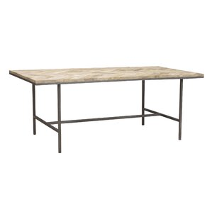 Chevron Wood Top Dining Table by Caribou Dane