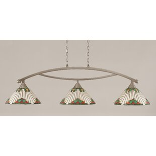 Loon Peak Essonnes 3-Light Glass Shade Kitchen Island Pendant