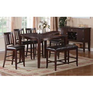 Melisa 6 Piece Counter Height Dining Set A&J Homes Studio